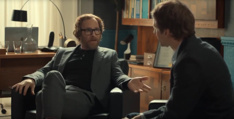 Paul Kaye as Matt's (Tom Basden) pyschiatrist in After Life